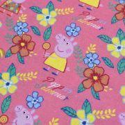 "Tissu coton ""Peppa Pig"" motif fleurs - Rose - Oeko-Tex ® et GOTS ® Autres marques - Tissus et mercerie - 2"