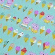 "Tissu coton ""Peppa Pig"" motif glaces - Vert menthe - Oeko-Tex ® et GOTS ® Autres marques - Tissus et mercerie - 2"