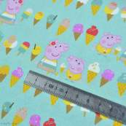 "Tissu coton ""Peppa Pig"" motif glaces - Vert menthe - Oeko-Tex ® et GOTS ® Autres marques - Tissus et mercerie - 5"