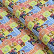 """Tissu coton """"Pat Patrouille"""" - Multicolore - Oeko-Tex ® et GOTS ®"""