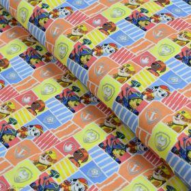 """Tissu coton """"Pat Patrouille"""" - Multicolore - Oeko-Tex ® et GOTS ® Autres marques - Tissus et mercerie - 1"""
