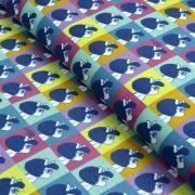"""Tissu coton """"Mafalda"""" - Multicolore - Oeko-Tex ® et GOTS ® Autres marques - Tissus et mercerie - 1"""