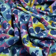 """Tissu coton """"Mafalda"""" - Multicolore - Oeko-Tex ® et GOTS ® Autres marques - Tissus et mercerie - 3"""