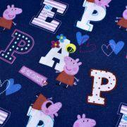 """Tissu coton """"Peppa Pig"""" motif lettres - Bleu et rose - Oeko-Tex ® et GOTS ® Autres marques - Tissus et mercerie - 2"""