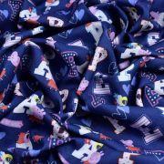 """Tissu coton """"Peppa Pig"""" motif lettres - Bleu et rose - Oeko-Tex ® et GOTS ® Autres marques - Tissus et mercerie - 6"""
