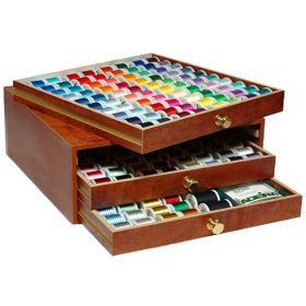 Coffret luxe en bois de fils à broder machine RAYON 200m - 194 bobines - Madeira ® Madeira ® - Fils à broder et à coudre - 1