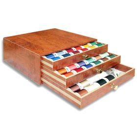 Coffret luxe bois de fils à broder machine RAYON 1000m - 122 bobines - Madeira ® Madeira ® - Fils à broder et à coudre - 1