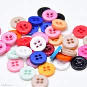 Boutons résine - Multicolore - Lot de 50 - 1