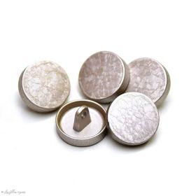 Bouton à queue chemise et chemisier métal - Rond - 15mm - 1