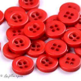 Boutons résine 4 trous - 10mm  - 1