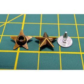 Rivets à sertir - Etoile - Bronze antique - 4