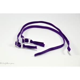 Bretelles réglables - Violet - Lot de 2