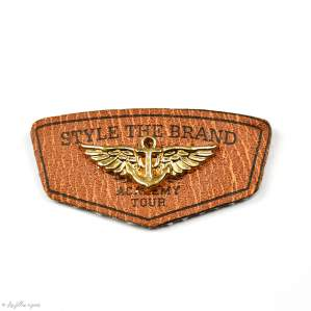 """Badge simili cuir """"Style the Brand"""" avec anneau - 45mm  - 1"""