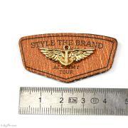 """Badge simili cuir """"Style the Brand"""" avec anneau - 45mm  - 2"""