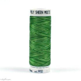 Fil à broder multicolore Polysheen 200m - Mettler ® - vert 9932 METTLER ® - Fils à coudre et à broder - 1