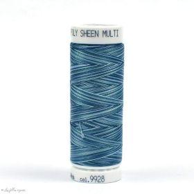 Fil à broder multicolore Polysheen 200m - Mettler ® - bleu 9928 METTLER ® - Fils à coudre et à broder - 1