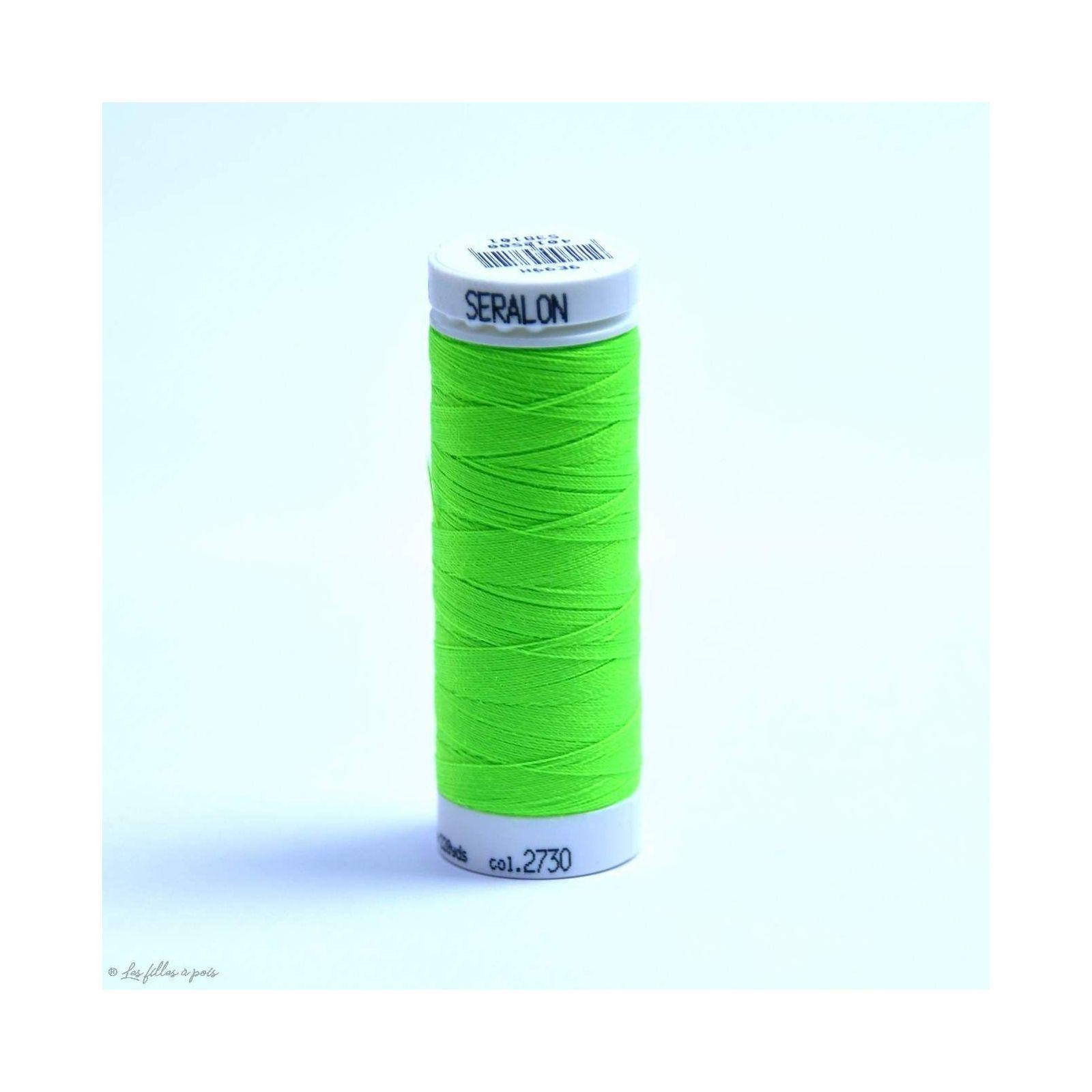 Fil à coudre Mettler ® Seralon 200m - coloris vert fluo - 2730 METTLER ® - Fils à coudre et à broder - 1