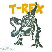 Transfert T-Rex - Kaki et ocre - Thermocollant - 1