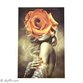 Transfert cliché femme  - Tons marron - Thermocollant  - 1
