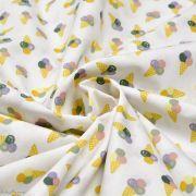 Tissu coton motif glaces - Blanc et multicolore - Oeko-Tex ® Autres marques - Tissus et mercerie - 2