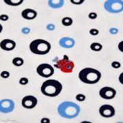 Tissu jersey coton motif petits poissons - Blanc, rouge et bleu - Oeko-Tex ® Autres marques - Tissus et mercerie - 3