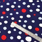 Tissu jersey coton motif pois  - Blanc, rouge et bleu - Oeko-Tex ® Autres marques - Tissus et mercerie - 4