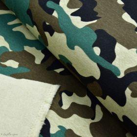 Tissu jersey sweat digital coton motif camouflage - Vert - Oekotex ® Autres marques - Tissus et mercerie - 1