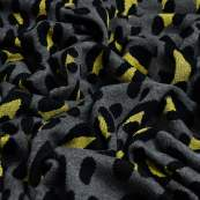 Tissu jacquard sparkle motif Safari léopard lurex - Gris et doré - Bio - ALB Stoffe ® - Hamburger Liebe ® ALBStoff feat Hamburge