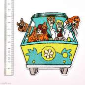 Écusson brodé personnage Scoobidoo - Mystery Machine - 2