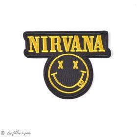 Écusson Nirvana - Noir et jaune - Thermocollant - 1