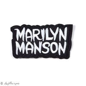 Écusson Marilyn Manson - Noir et jaune - Thermocollant - 1