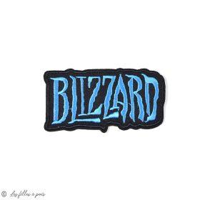 Écusson Blizzard - Noir et bleu - Thermocollant  - 1