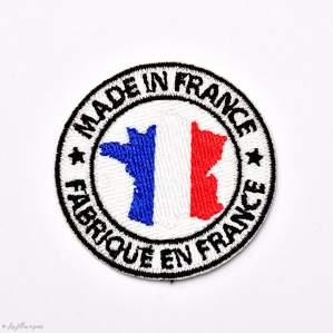 Écusson Made In France - Bleu, blanc et rouge - Thermocollant - 1