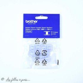 Lot de 10 canettes machine à coudre transparentes Brother ® Brother ® - 1