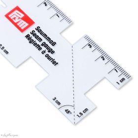 Mini réglette pour plis et ourlets en plastique transparente - Prym Love ® 610732 Prym ® - Mercerie - 1