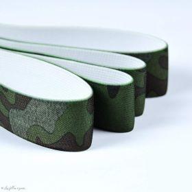 Elastique caleçon boxer camouflage - Vert - 25mm - 1