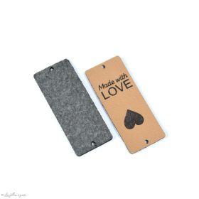 """Etiquette simili cuir """"LOVE"""" - 50mm - Lot de 2 - 1"""