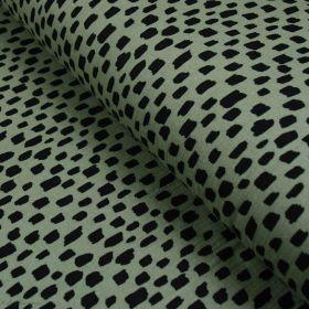 Tissu double gaze de coton traits - Vert et noir - Oekotex ® et GOTS ® Autres marques - Tissus et mercerie - 1