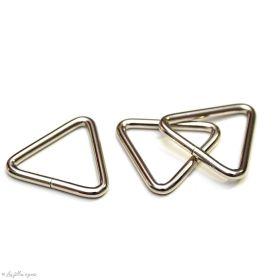 Boucle de croisement en triangle - 25mm - Inox - Lot de 2  - 1