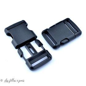 Fermeture rapide avec sécurité en plastique - Noir - 32mm - 1
