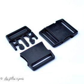 Fermeture rapide avec sécurité en plastique noir - 30mm - 1
