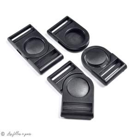 Fermeture rapide avec sécurité en plastique noir - 32mm  - 1