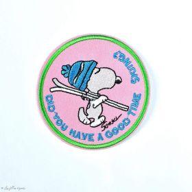 Écusson brodé personnage de Snoopy - Rond - Thermocollant  - 1