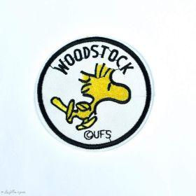 Écusson brodé personnage de Snoopy - Woodstock - Rond - Thermocollant - 1