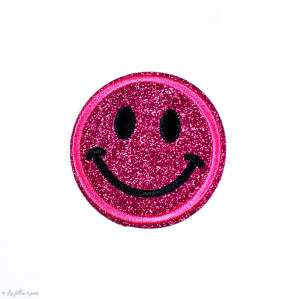 Écusson brodé smiley glitter - Thermocollant - 17