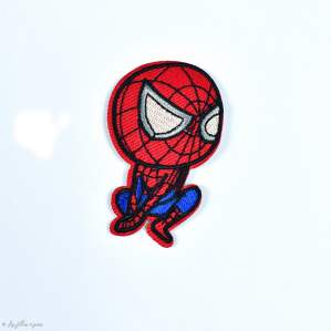 "Écusson SpiderMan ""Marvel"" - Rouge et Bleu - Thermocollant - 1"