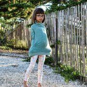"""Tissu jersey motif fillettes """"Daydream"""" de Patty Basemi - Rose, bleu et jaune - Oekotex - AGF ® Art Gallery Fabrics ® - Tissus -"""