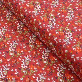 "Tissu jersey motif fleurs ""Trinkets Fusion"" - Rouge et blanc - Oekotex ® - AGF ® Art Gallery Fabrics ® - Tissus - 1"