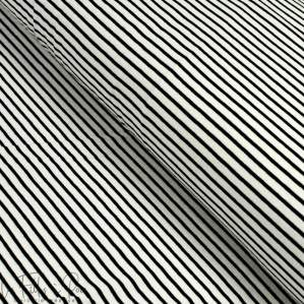 Tissu jersey coton motif rayures marinière - Noir et blanc Autres marques - Tissus et mercerie - 3