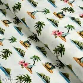 Tissu jersey motif combi VW - Multicolore - Oeko-Tex ® Autres marques - Tissus et mercerie - 1